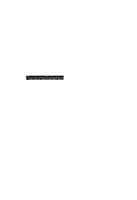 MBM - Personalisieren